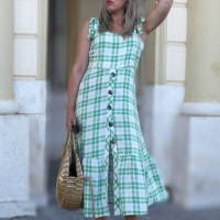 ZAFUL CHECKED DRESS