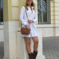 COWBOY BOOTS AND SHIRT DRESS
